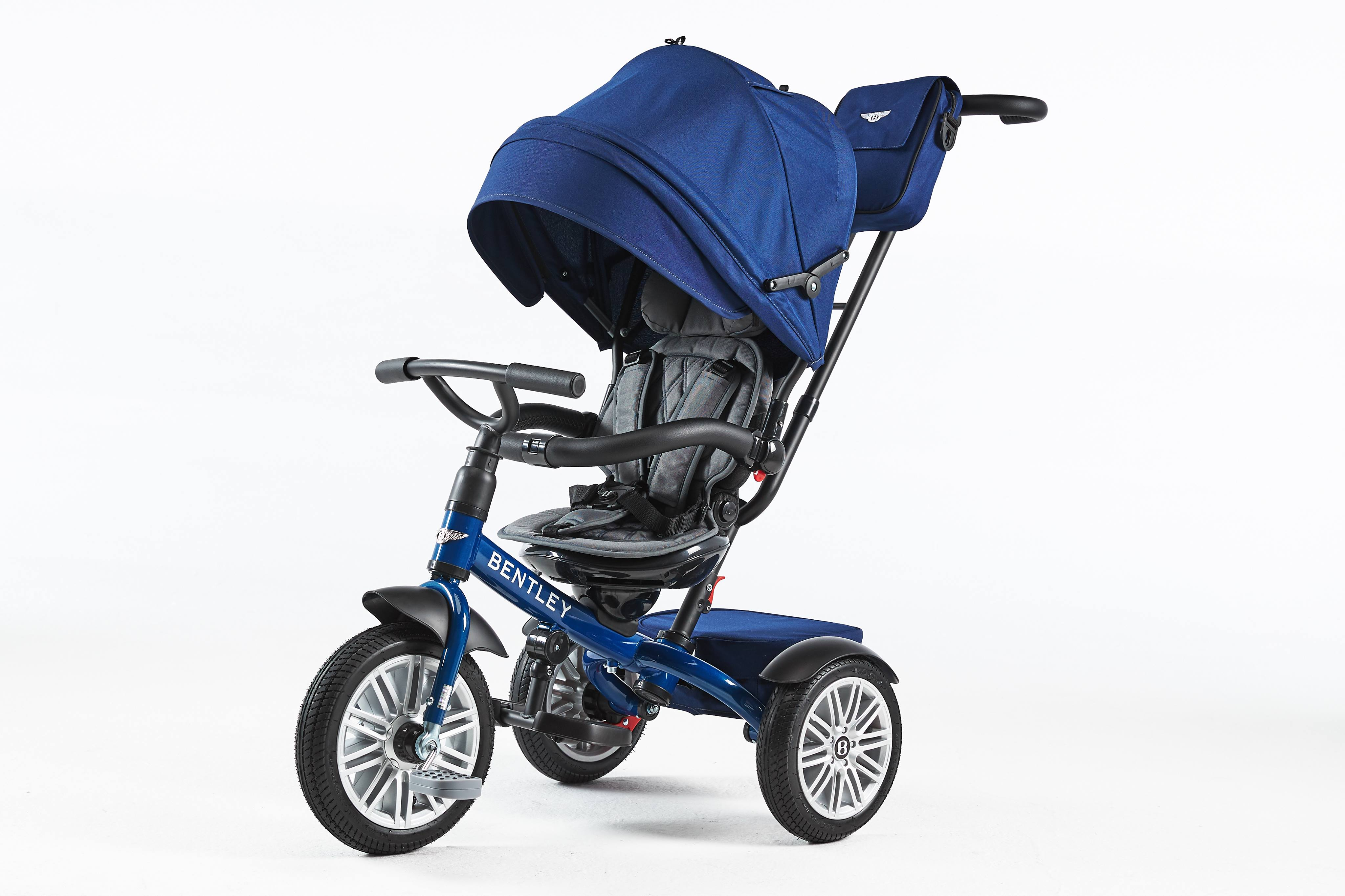 The New Bentley Tricycle 2020 Premium Sport Kinderwagen Buggy Trike sequin blue